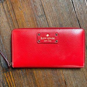 Kate Spade Red Zippy wallet